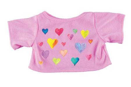 Pink T-shirt With Hearts