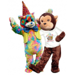 Rainbow Bear Mascot Costume